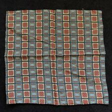 Small Mans Silk Scarf-handkerchief Made In Italy