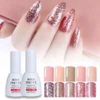 Rose Gold Glitter Soak Off UV Gel Color Shining Nail Polish Manicure Born Pretty