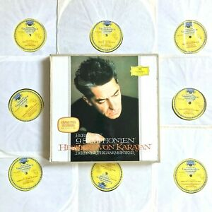 DG SKL 101/8 KARAJAN / BEETHOVEN 9 Symphonies 1963 (8 x LP BOX SET) VG+/VG+