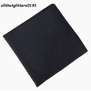 Beautiful Black Colour Pocket Square Handkerchief Paisley Design 22 cm x 22 cm.