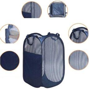 Large Foldable Storage Laundry Hamper Clothes Basket Nylon Laundry Washing Bag