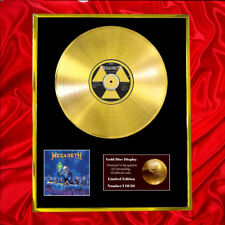 MEGADETH RUST IN PEACE CD GOLD DISC VINYL RECORD AWARD DISPLAY FREE P&P!