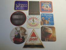 9 Beer Bar Coasters >< Delirium,Duchesse,Chimay,Bass,Timmermans,Budvar,Val-Dieu+