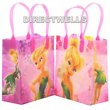 Disney Tinkerbell Authentic Licensed Reusable Small Party Favor Goodie 12 Bags