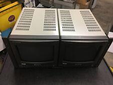 "Sony PVM-8220 one set  Dual 8"" Monitors + Rack Mount Sony MB-520"