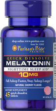 Puritan's Pride Quick Dissolve Melatonin 10mg 45 cap Improve Sleep MadeinUSA