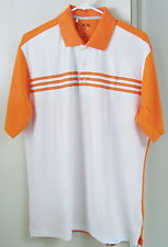 NWT Adidas ClimaCool 3-Stripes Polo. Color-White/Sunset Style #Z22065 Size-Large