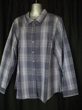BNWT Womens Sz 16 Rivers Brand Regular Fit  Blue Check Long Sleeve Shirt RRP $30