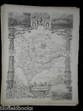 Original Antiquarian UK County Map: Rutlandshire-c1850 British, Geography