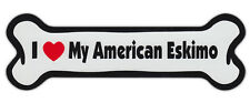 Dog Bone Shaped Car Magnets: I Love My American Eskimo