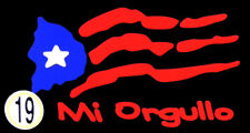 PUERTO RICO CAR DECAL STICKER  MI ORGULLO  FLAG  #19
