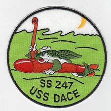 USS Dace SS 247 - Fish w/ torp & scope BC Patch Cat No C5047