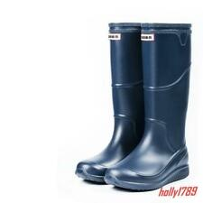 New Mens Rubber Waterproof Fishing Winter Warm Rain Boots Casual Work shoes #9_2