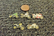 JOB LOT 5 X ENAMEL CLASIC MOTO/MOTORBIKE PIN BADGES