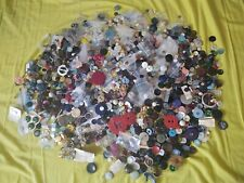 More details for collection of large job lot of vintage / retro buttons - 2.3 kg.