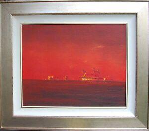 Robert Kerr (1925-2003) original oil titled 'Homestead' Australia