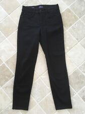 WOMENS NOT YOUR DAUGHTERS JEANS, NYDJ CLARISSA ANKLE SIZE US2 UK 6-8 BLACK #1547