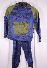 ROFFE Size Large Blue Nylon Polyester Snowboard SKI Suit Jacket and Pants