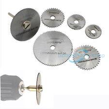 7XHSS Kreissägeblätter Trennscheiben Dorn Cutoff Cutter Für Drehwerkzeug Dremel