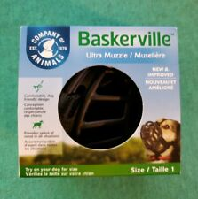 New Baskerville Ultra Dog Muzzle Size 1 Small Dogs Safe Training Basket Muzzle