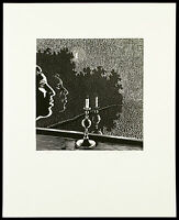 Kunst in der DDR. Linolschnitt Wolfgang MATTHEUER (1927-2004 D), handsigniert