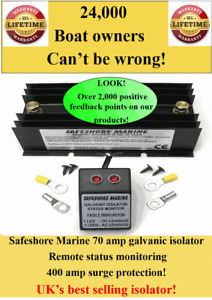 UK's Best selling marine galvanic isolator 500 amp surge unbeatable protection!