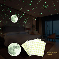DIY Glow in the Dark Star Moon Wall Stickers Luminous Decal Room Decor Convenien