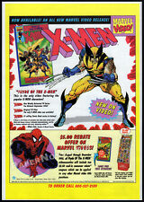 Pryde of the X-MEN__Original 1992 Trade print AD / Marvel video promo__Wolverine