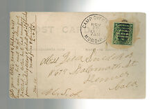 1913 Moro Philippines CAmp Overton RPPC Postcard Cover to USA