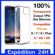 Coque TPU silicone gel Housse Protection iPhone 5 6 6S 7 8 Plus X XR XS 11 Pro