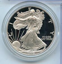 1998 American Eagle One Ounce PROOF Silver Dollar - US Mint Official - KX108