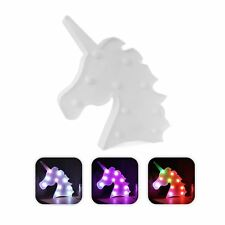LED Multi-Coloured Magical Light Up Unicorn Head Childrens Safety Night Light