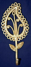 Leaf Shape Brass Hook Royal Golden Victorian Style Cupboard Wall Decor Hook Also
