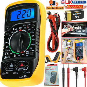 LCD Digital Multimeter Voltmeter Ammeter OHM DC AC Circuit Checker Tester Buzzer