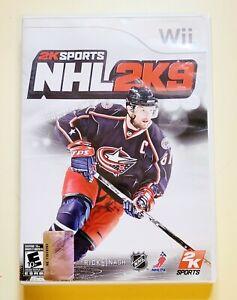 NHL2K9 Wii 2K Sports Hockey E 10+ Rick Nash 61 Multi Player Manual Free Shipping