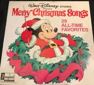 1978 Disneyland Record Walt Disney Studios MERRY CHRISTMAS SONGS 2 LP Albums