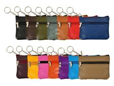 New Key Pouch Genuine Leather Small Coin Card Key Ring Wallet Pouch Purse 6825