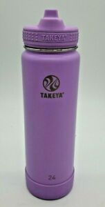 Takeya Actives Water Bottle 24 oz. Lilac Color Insulated Stainless Double Wall