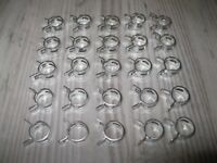 100 Spring Action hose Clamps Fits Fuel Line Clear /& Black Vinal OD:7//16 ID:1//4