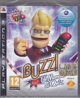 Ps3 PlayStation 3 BUZZ - UN MONDO DI QUIZ nuovo sigillato italiano pal