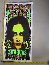 1998 Rock Roll Concert Poster Fiona Apple Mark Arminski Signed Blacksburg VA