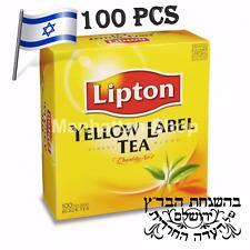 Lipton Tea Yellow Label Ceylon 100 Bags Best Premium Quality Kosher From Israel
