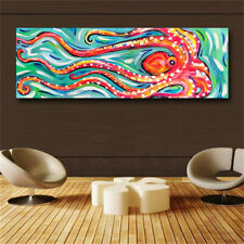Canvas Painting Wall Art Animal Oil Painting Colored Octopus Canvas Picture