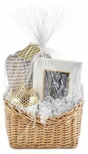 Wrap Kit with Cellophane Bag Filler Cord Gift Tag Gifts Baskets Weddings Baby