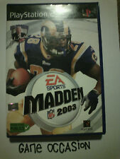 MADDEN NFL 2003 PS2 PLAYSTATION 2 SONY COMPLETE PAL