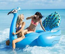 Swimming Pool Lake Beach Float Giant Peacock Raft,Inflatable water party toy New