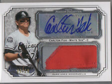 2012 Topps Museum Collection Carlton Fisk Auto Jumbo Logo Jersey Patch 8/10