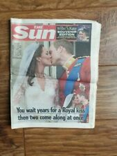 The Sun 30th April 2011 - Wedding of Prince William/Kate Middleton, Creased Copy