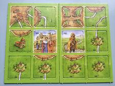 Carcassonne Mini Espansioni-King, rapinatore & CULT, Inglese Nuovo di zecca con le regole