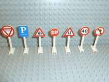 LEGO® City Stadt Town Zubehör 7x Straßenschilder Verkehr Zeichen 649 14 K125